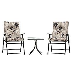 Comprar Conjunto de Mesa com 2 Cadeiras Estofadas - Kairos 9012-MOR