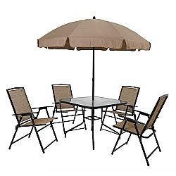 Comprar Conjunto de Mesa Quadrada para Jardim Acapulco com - 4 Cadeiras-MOR