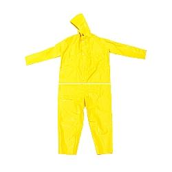 Comprar Conjunto de pvc (Jaqueta + Calça) forrado amarelo-Ledan