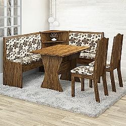 Comprar Conjunto Mesa de Canto TOP F 2 Cadeiras Avelã / Lumini-Viero Móveis