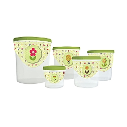 Comprar Conjunto Potes para Mantimentos com Rosca 5 Peças-Plasútil