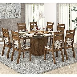 Comprar Conjunto Sala Dora E Mesa e 8 Cadeiras Avelã / Lumini-Viero Móveis