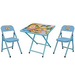 Comprar Conjunto Sapeca Mesa Quadrada com 2 Cadeiras Azuis PIC NIC-Metalmix