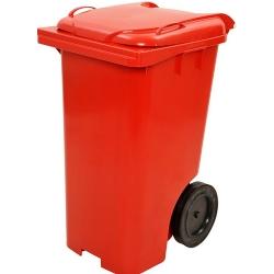 Comprar Contentor / coletor de 240 Litros vermelho com rodas-Lar Plásticos