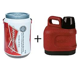 Comprar Cooler - Budweiser 24 latas, Garrafão Amigo 3,0 Litros Vermelho-Doctor Cooler