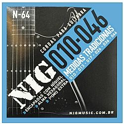Comprar Cordas para Guitarra Medidas Tradicionais Encapadas com Níquel-Nig
