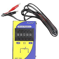 Comprar D�cada Resistiva por Tecla com Simulador escala de 1 a 99.999 ohms-Planatc