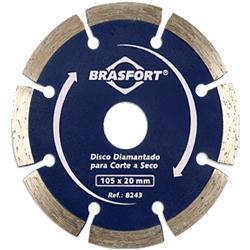 Comprar Disco diamantado para corte a seco 105 x 20 mm-Brasfort