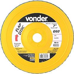 Comprar Disco de desbaste/acabamento flap disc reto 7 grão 60 costado plástico-Vonder