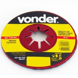 Comprar Disco de fibra para desbaste 4.1/2 x 7/8 grão 80-Vonder