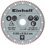 Disco diamantado 200 x 25,4 mm -  Einhell - 4301175 (Einhell)