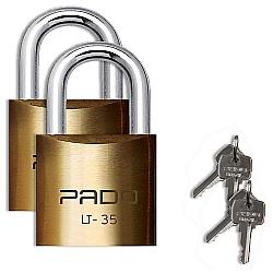 Comprar Dois Cadeados em Latão, LT-35 mm - 4 Chaves-Pado
