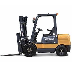 Comprar Empilhadeira Dupla a Diesel, 4,5 metros de Elevação, 2,5 Toneladas, Motor Xinchai 55 cv - CPCD25/3XD-Shangli