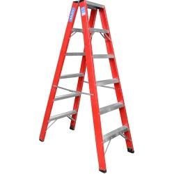 Comprar Escada americana de fibra tipo pintor de 6 degraus -FP106-Alulev