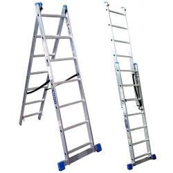 Comprar Escada de alum�nio estic�vel 2 x 10 degraus - NCE2X10-Tander Profissional