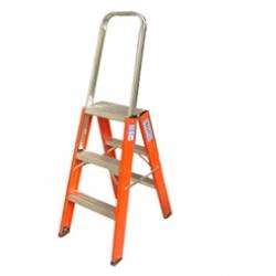 Comprar Escada de fibra americana tipo pintor 5 degraus com al�a de apoio - FP205-Alulev