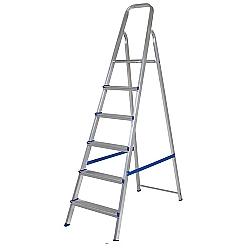 Comprar Escada de Alum�nio 6 Degraus 5104 - Uso Dom�stico-MOR