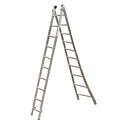 Comprar Escada de Alumínio Esticável 2x10 Degraus - ED110-Alulev