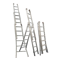 Comprar Escada de alum�nio profissifional 3 lances 8 degraus - 3L108-Alulev