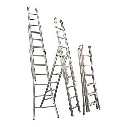 Comprar Escada de alumínio profissifional 3 lances 8 degraus - 3L108-Alulev