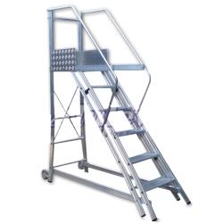 Comprar Escada de Alumínio Trepadeira - 10 Degraus + Patamar - TR252-Alulev