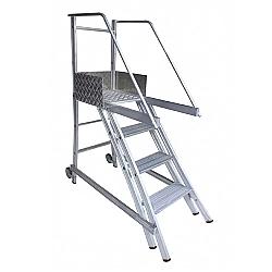 Comprar Escada de Alumínio Trepadeira 3 degraus + patamar - TR102-Alulev