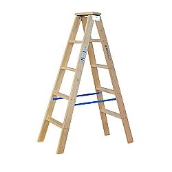 Comprar Escada de madeira 5 degraus 1,35m modelo americana dupla-W Bertolo