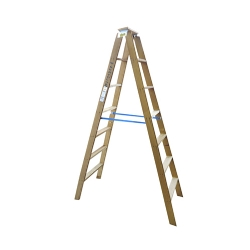Comprar Escada de madeira 6 degraus 1,62m modelo americana dupla-W Bertolo