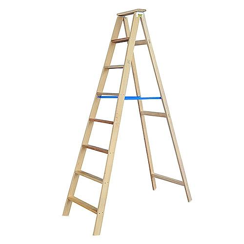 Comprar Escada de madeira 8 degraus 2,16 metros tipo tesoura simples - TSM8-W Bertolo