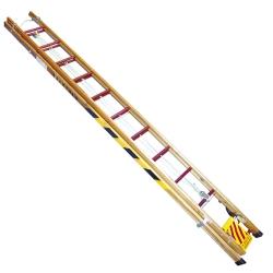 Comprar Escada de madeira extensível 16 degraus úteis 3.00 x 4,80 m - EXM480-W Bertolo