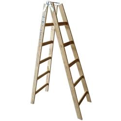 Comprar Escada de madeira tipo pintor de 10 degraus - TDM10-W Bertolo