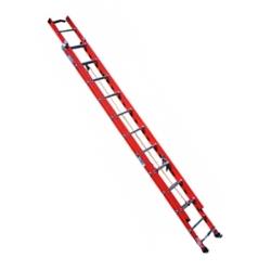 Comprar Escada fibra extensível 32 degraus 5,74 x 9,91 m degrau tubular - FE 832-Alulev