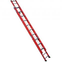 Comprar Escada fibra extensível 19 degraus 3,50 x 6,00 m degrau tubular - FE 819-Alulev