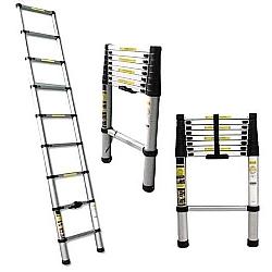 Comprar Escada Telescópica Alumínio 2,6m 8 Degraus-Bel Fix