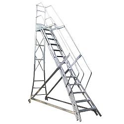 Comprar Escada trepadeira 12 degraus com 4 corrimãos-Alulev