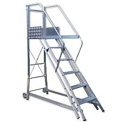Comprar Escada Trepadeira 5 degraus com 4 Corrimãos 0,55 / 1,1m TR152-Alulev