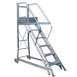 Comprar Escada Trepadeira 5 degraus com 4 Corrim�os 0,55 / 1,1m TR152-Alulev