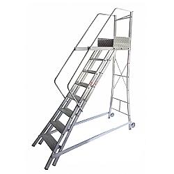 Comprar Escada Trepadeira 7 Degraus com 4 Corrim�os - TR202-Alulev