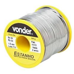 Comprar Estanho em fio para solda 1,5 mm-Vonder