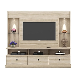 Comprar Estante Home Theater Dinamarca P�rola Espa�o para TV at� 1280 mm-Lukaliam