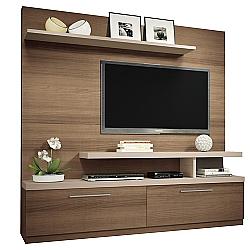 Comprar Estante Home Theater Maxx, 2 gavetas - Macchiato / Naturale - 6551-HB Móveis