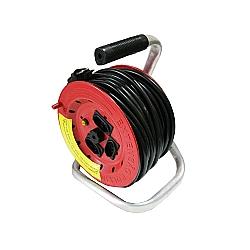 Comprar Extensão com carretel de 290 mm tripolar - 3 tomadas - 3x2,5 mm² - 20 amperes - 20 metros-Force Line