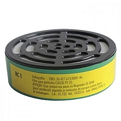 Comprar Filtro RC1 para Proteção das Vias Respiratórias para Respirador Semifacial Modelo CG 304N-Carbografite