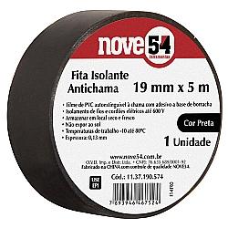 Comprar Fita Isolante 19 mm x 5 m Preta-Nove54