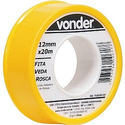 Comprar Fita veda rosca 12 mm x 20 m - Vonder-Vonder