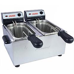 Comprar Fritadeira Profissional Elétrica, Aço Inox, 2 Cubas - 2 Litros-Cotherm