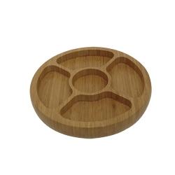 Comprar Gamela de bamboo com 5 divis�rias-MOR