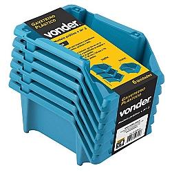 Comprar Gaveteiro Plástico Kit com 6 Peças Número 3 Azul-Vonder