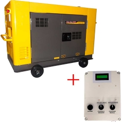 Comprar Gerador de Energia a Diesel 12.65 kva Trifásico refrigerado a àgua Silenciado com QTA 110/220v - NDE12STA3-Nagano