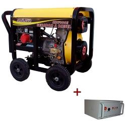 Comprar Gerador de Energia a Diesel, 06 kVA, Monof�sico 110/220 V, Partida el�trica com QTA incluso - ND7000EQTA-Nagano